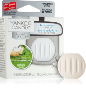 Yankee Candle Clean Cotton ароматизатор для салона автомобиля сменный блок
