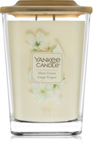 Yankee Candle Elevation Sheer Linen dišeča sveča  velika