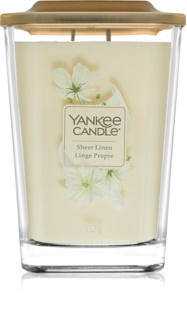 Yankee Candle Elevation Sheer Linen vela perfumada grande