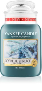 Yankee Candle Icy Blue Spruce lumânare parfumată  Clasic mare