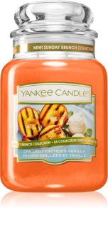 Yankee Candle Grilled Peaches & Vanilla lumânare parfumată  Clasic mare