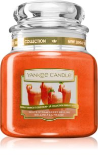 Yankee Candle White Strawberry Bellini vela perfumada Classic médio