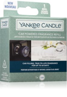Yankee Candle Fluffy Towels auto luchtverfrisser  Navulling