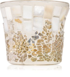 Yankee Candle Gold and Pearl Mosaic γυάλινη βάση για αναθηματικά κεριά