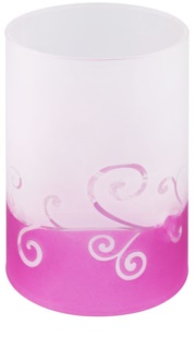 Yankee Candle Purple Scroll Glass Tea Light Holder