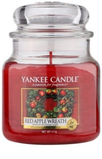 Yankee Candle Red Apple Wreath ароматна свещ  Classic средна