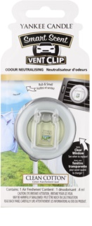 Yankee Candle Clean Cotton aроматизатор за автомобил с клипс