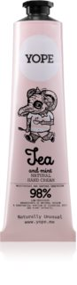 Yope Tea & Mint Natural Hand Cream with Nourishing and Moisturizing Effect
