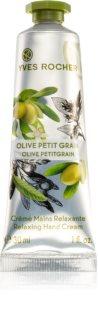 Yves Rocher Olive & Petit Grain relaxačný krém na ruky