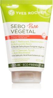 Yves Rocher Sebo Pure Végétal mélyen tisztító gél 3 az 1-ben