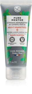 Yves Rocher Pure Menthe čisticí maska s aktivním uhlím