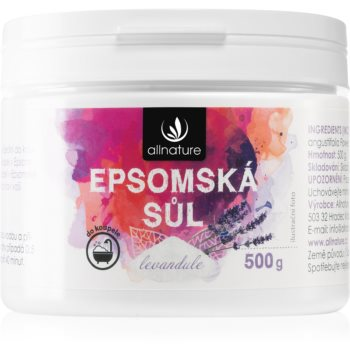 Allnature Epsomská sůl Lavender saruri de baie imagine 2021 notino.ro