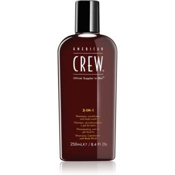 American Crew Hair & Body 3-IN-1 sampon, balsam si gel de dus 3in1 pentru barbati notino.ro
