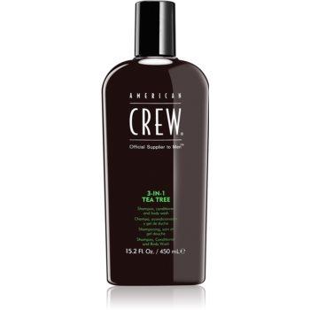 American Crew Hair & Body 3-IN-1 Tea Tree sampon, balsam si gel de dus 3in1 pentru barbati notino.ro