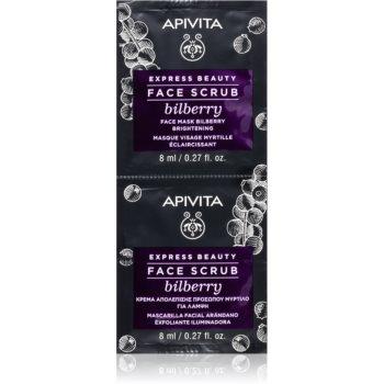 Apivita Express Beauty Bilberry peeling intensiv de curățare pentru o piele mai luminoasa imagine 2021 notino.ro