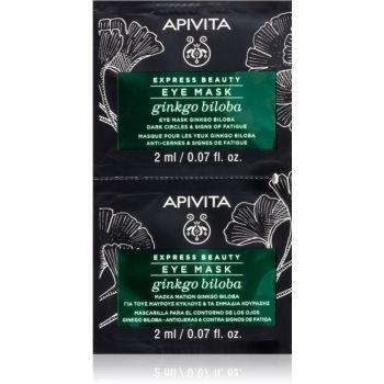 Apivita Express Beauty Ginkgo Biloba masca pentru ochi impotriva ridurilor si a cearcanelor intunecate image0