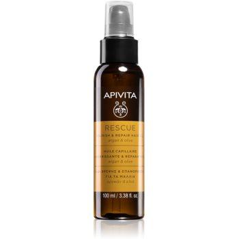 Apivita Holistic Hair Care Argan Oil & Olive Ulei de păr hidratant și hrănitor cu ulei de argan imagine 2021 notino.ro