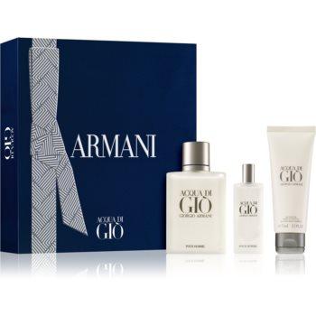 Armani Acqua di Giò Acqua di Gio toaletní voda 100 ml + sprchový gel 75 ml + toaletní voda cestovní