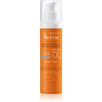 Avène Sun Sensitive fluid protector pentru piele normală spre mixtă SPF 50+ imagine 2021 notino.ro