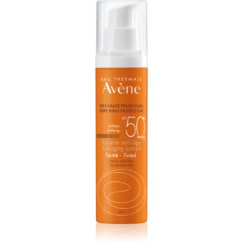 Avène Sun Sensitive cremă protectoare nuanțatoare, pentru piele uscată și sensibilă SPF 50+ imagine 2021 notino.ro
