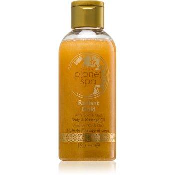 Avon Planet Spa Radiant Gold ulei de corp și pentru masaj, iluminator cu sclipici notino.ro