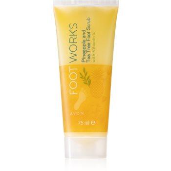 Avon Foot Works Pineapple and Tea Tree Softening de îngrijire pentru pielea crăpată a picioarelor cu vitamina E imagine 2021 notino.ro