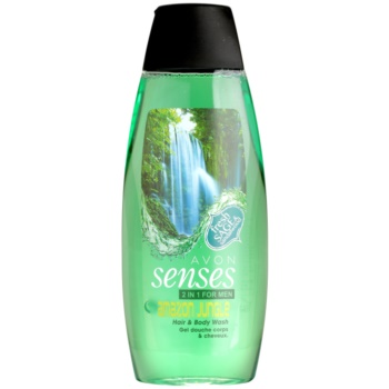 Avon Senses Amazon Jungle gel de dus si sampon 2in1 pentru barbati notino.ro