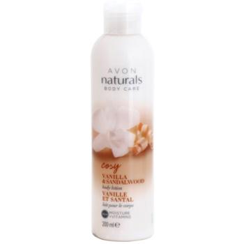 Avon Naturals Body lapte de corp cu vanilie si lemn de santal notino.ro