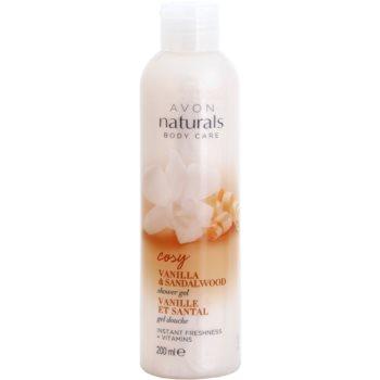 Avon Naturals Body gel de dus revigorant cu vanilie si lemn de santal imagine 2021 notino.ro