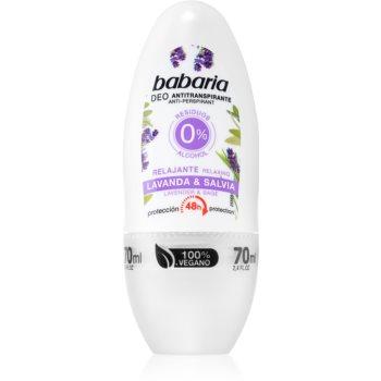 Babaria Lavanda & Salvia antiperspirant roll-on cu o eficienta de 48 h imagine 2021 notino.ro