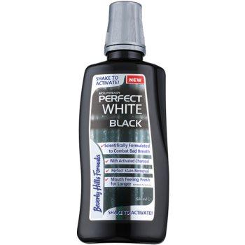 Beverly Hills Formula Perfect White Black Apa de gura pentru albire cu particule de carbon pentru o respiratie proaspata image0