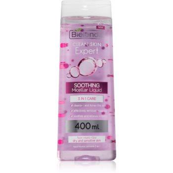 Bielenda Expert Pure Skin Soothing micelární čisticí voda 3 v 1 400 ml