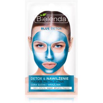 Bielenda Metallic Masks Blue Detox masca detoxifiere si hidratare pentru piele uscata spre sensibila imagine 2021 notino.ro