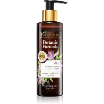 Bielenda Botanic Formula Hemp + Saffron Gel facial de curatare cu efect de hidratare notino.ro