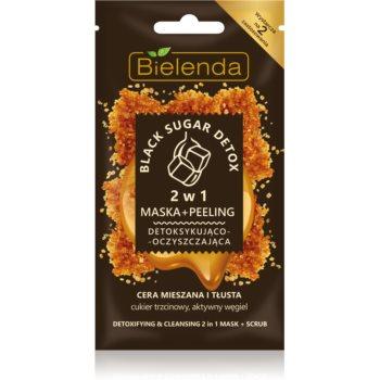 Bielenda Black Sugar Detox 2 in 1 masca detoxifianta si micro exfoliere imagine 2021 notino.ro