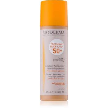 Bioderma Photoderm Nude Touch fluid tonifiant de protecție pentru piele mixtă și grasă SPF 50+ notino.ro