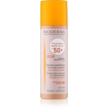 Bioderma Photoderm Nude Touch fluid tonifiant de protecție pentru piele mixtă și grasă SPF 50+ imagine 2021 notino.ro