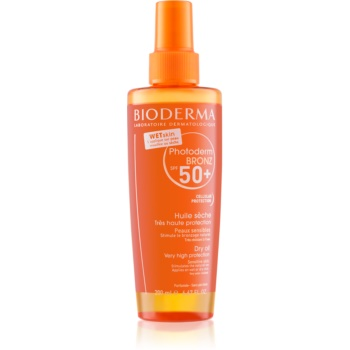 Bioderma Photoderm Bronz Oil spray cu ulei uscat protector SPF 50+ imagine 2021 notino.ro