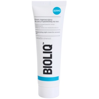Bioliq Dermo crema regeneratoare de noapte pentru ten acneic notino.ro