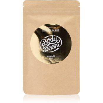 BodyBoom Shimmer Gold exfoliant de corp, cu cafea imagine 2021 notino.ro
