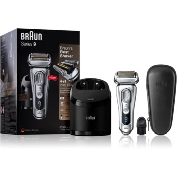 Braun Series 9 9390cc Silver with Clean&Charge System aparat de ras cu planificare imagine 2021 notino.ro