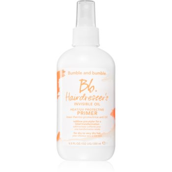 Bumble and Bumble Hairdresser's Invisible Oil Heat/UV Protective Primer primer spay pentru machiaj pentru un aspect perfect al parului notino.ro