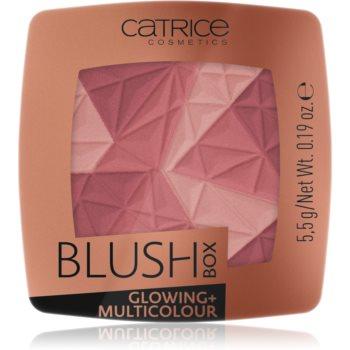 Catrice Blush Box Glowing + Multicolour blush cu efect iluminator notino.ro