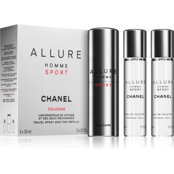 Chanel Allure Sport EDC 3 x 20 ml pro muže dárková sada