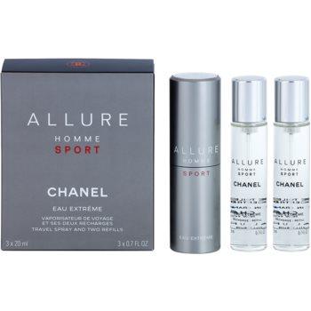 Chanel Allure Homme Sport Eau Extreme Eau de Toilette (1x reincarcabil + 2x rezerva) pentru bărbați