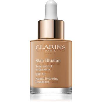 Clarins Skin Illusion Natural Hydrating Foundation makeup radiant cu hidratare SPF 15 notino.ro