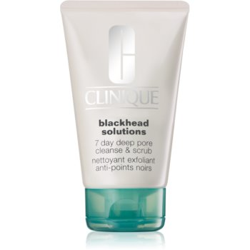 Clinique Blackhead Solutions 7 Day Deep Pore Cleanse & Scrub demachiant cu efect de peenling impotriva punctelor negre imagine 2021 notino.ro