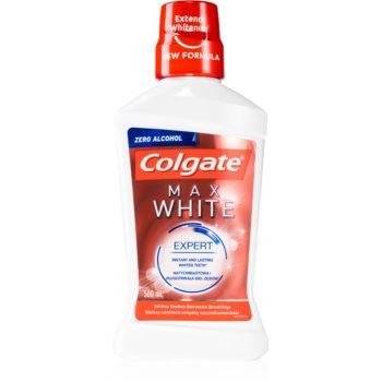 Colgate Max White Expert apa de gura cu efect de albire fară alcool imagine 2021 notino.ro
