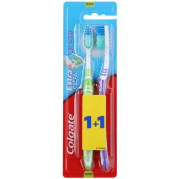 Colgate Extra Clean periuta de dinti Medium 2 pc notino.ro