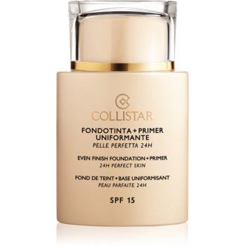 Collistar Even Finish Foundation+Primer 24h Perfect Skin bază de machiaj SPF 15 imagine 2021 notino.ro